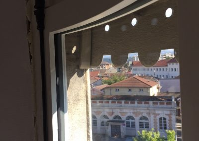 menuiserie extérieure, fenêtre bombée