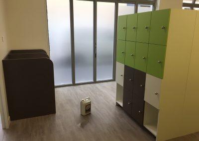 mobilier casiers crèche Villeurbanne